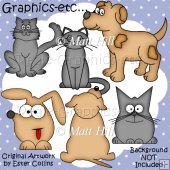 Cats and Dogs Clipart Collection