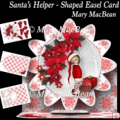 Santa's Helper - Shaped Easel Card