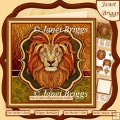 LION HEAD 8x8 Decoupage & Insert Kit Various Occasions