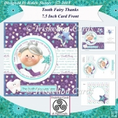 Tooth Fairy Thanks Card Front Kit with Decoupage & Insert