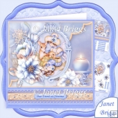 Winter Warmth & Frosted Florals 8x8 Christmas Decoupage Kit