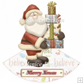 Santa Bearing gifts Rocker Card