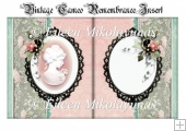 Vintage Cameo Remembrance Card Insert