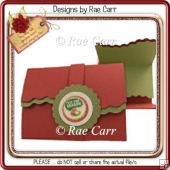 187 Scalloped 3 fold Card *Multiple MACHINE Formats*