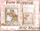 FREE Paris Shopping Matchbook Note Sheets Set