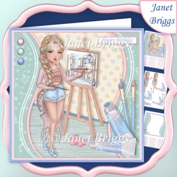 LADY ARTIST 7.5 Decoupage & Insert Mini Kit