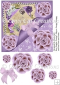 Purple and Lavender Friendship Topper Card Sheet