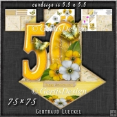 Vintage Easel 50th Golden Wedding Card Kit 1181