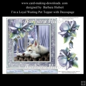 I'm a Loyal Waiting Pet Topper with Decoupage