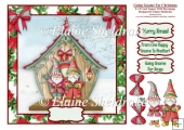 Going Gnome For Christmas - 8 x 8 Card Topper With Decoupage