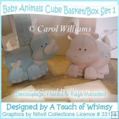 Baby Animal Basket/Box - Set 1