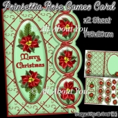 Poinsettia Cameo Card