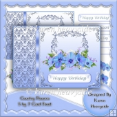 Country Flowers 5 by 7 Card Front