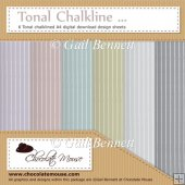 Tonal Chalkline - 6 Tonal A4 Digital Design Sheets