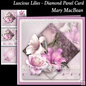 Luscious Lilies - Diamond Panel Card
