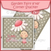 "Garden Fairy 8""x8"" Corner Stacker"