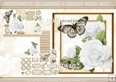 BUTTERFLY BLOSSOMS 4 SHEET MINI KIT White