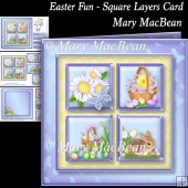 Easter Fun - Square Layers Card