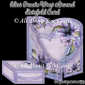 Lilies Ornate Wrap Around Gatefold Card