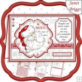 SANTA BELIEVE IN THE MAGIC A5 Christmas Decoupage & Insert Kit