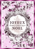 Joyeux Noel Pairs Chic French Backing Background Paper