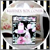 Birthday Bunny Kleenex Box Cover with Directions
