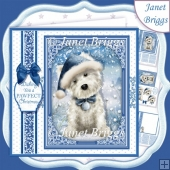 WESTIE CHRISTMAS HAT 7.5 Quick Layer Card or Decoupage Kit