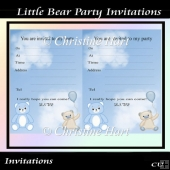 Little Bear Party Invitations