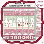 OUR HOUSE TO YOURS Christmas 7.5 Quick Card Kit Create Any Name