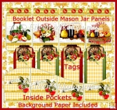 Apple Harvest Tag Booklet with Coordinating Tag Set