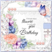 Floral Word Art Birthday 4
