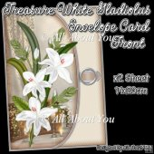 Treasure White Gladiolus Envelope Card Front