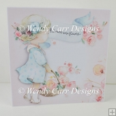 THE LOVELY FLOWER GIRLS SQUARE CARD 2