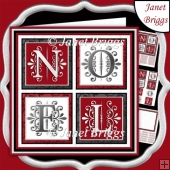 NOEL SQUARES Contemporary Christmas 7.5 Quick Layer Card & Inser