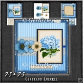 Vintage Lace Flower Blue Card Kit 1222
