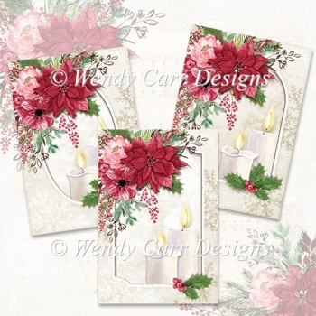 READY TO PRINT 3 x A5 CARDS - CHRISTMAS BEAUTY