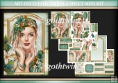 Art Deco Lady Emilia 4 Sheet Mini Kit Aqua