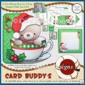 A Christmas Hug in a Mug Shaped Fold Card Kit