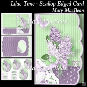 Lilac Time - Scallop Edged Card