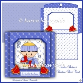Winter Babes Shadow Box Card