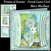 Promise of Summer - Curved Layers Card