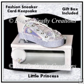 Little Princess - Fashion Sneaker Card/Keepsake