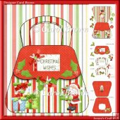 Christmas hand bag card kit-10