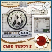 Football Round Topped Card Kit