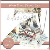 Winter Scene Pyramid Card