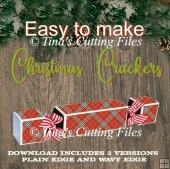 Christmas Cracker Easy to make - 2 versions included plain or wa