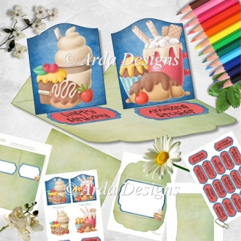 Sweet Birthday Double Easel Card