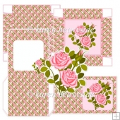Pink Rose Notelet Set