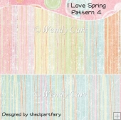 I Love Spring Papers - Pattern 4(Retiring in August)