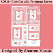 ADS18 Kitty Bow Bright 2 Toppers and Pyramage Layers